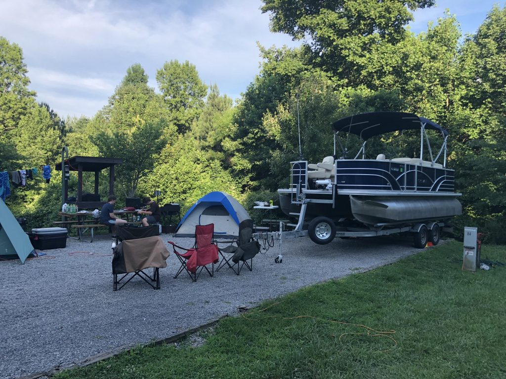 Pontoon-A-Fish at our campsite on Lake Cumberland