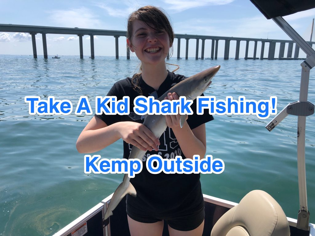 Pontoon Boat Fishing for Sharks in Tampa Bay