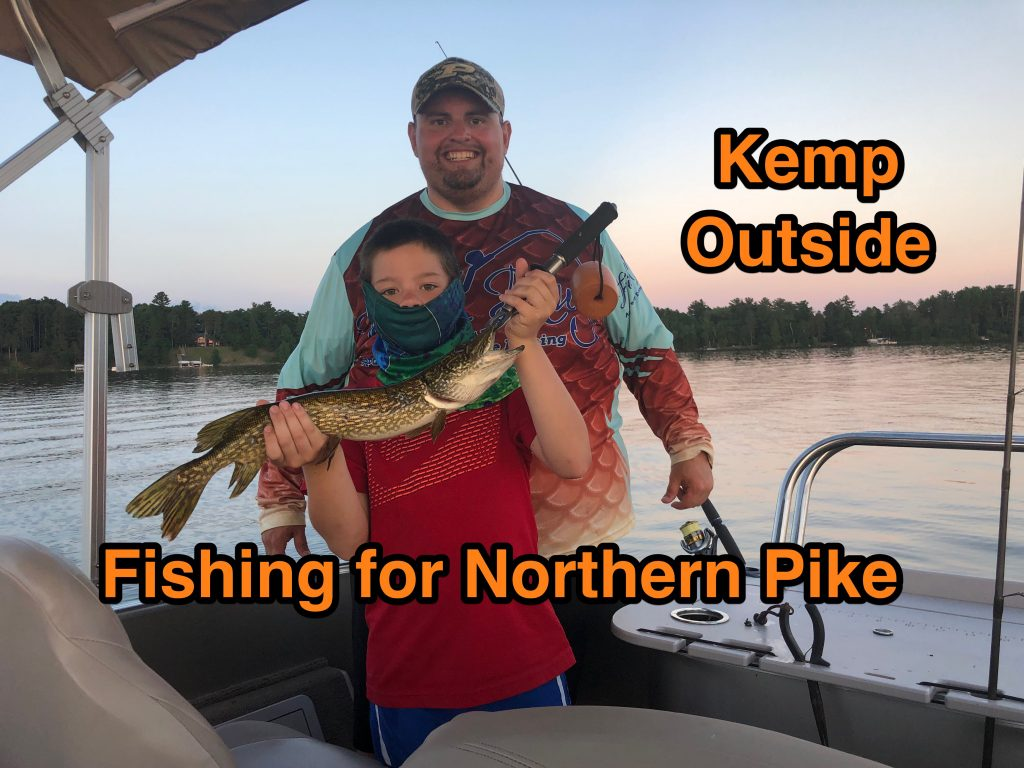 Northern Pike Fishing from a Pontoon Boat in Minnesota