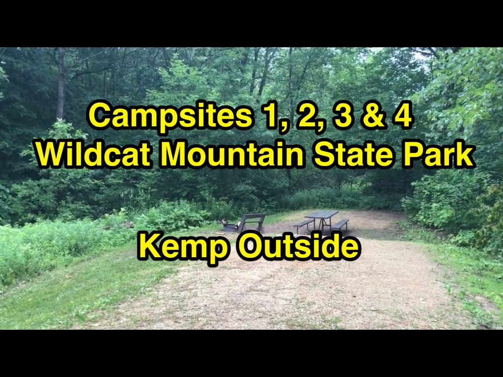 Wildcat Mountain State Park Campsites 1, 2, 3 & 4