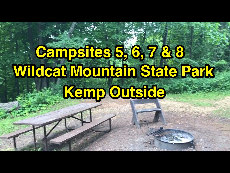Wildcat Mountain State Park Campsites 5, 6, 7 & 8