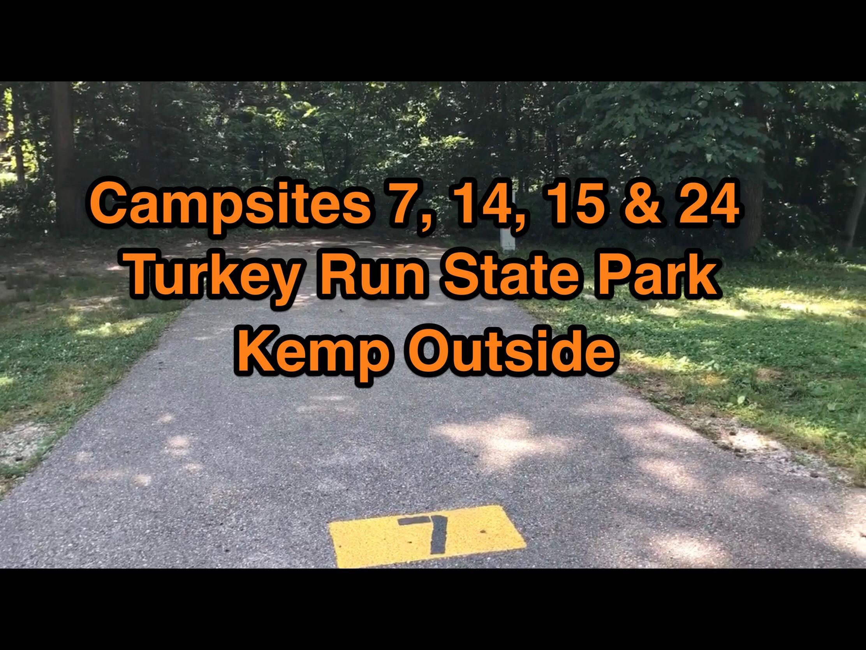 Turkey Run State Park Campsites 7, 14, 15 & 24