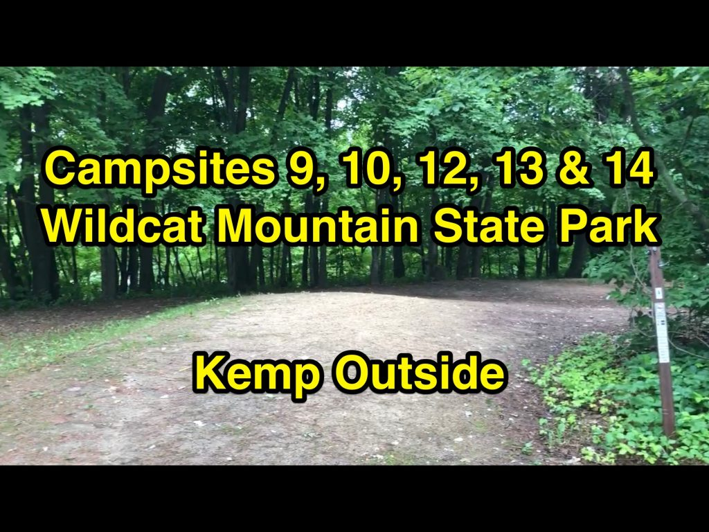 Wildcat Mountain State Park Campsites 9, 10, 12, 13 & 14