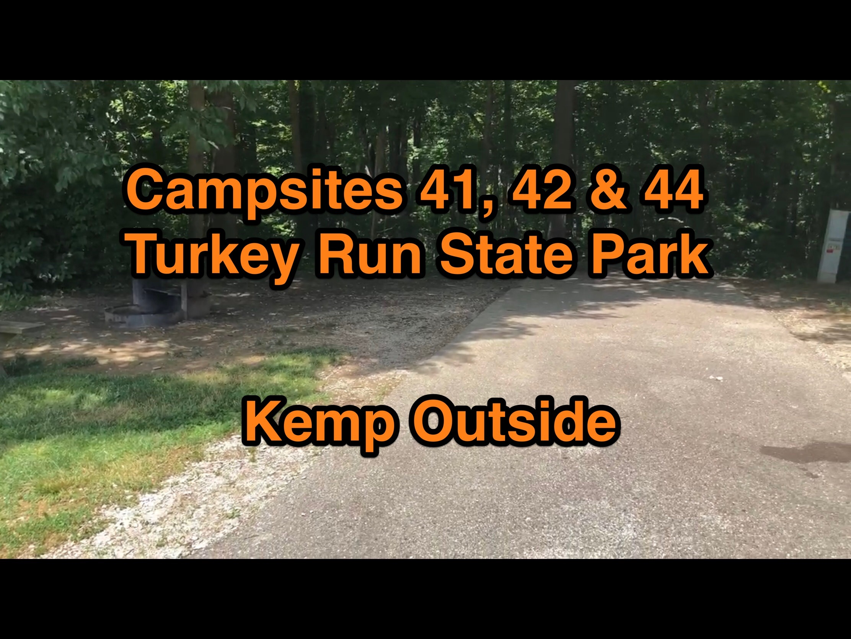 Turkey Run State Park Campsites 41, 42 & 44