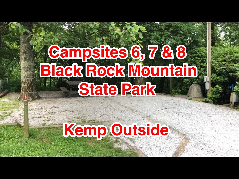Black Rock Mountain State Park Campsites 6, 7 & 8