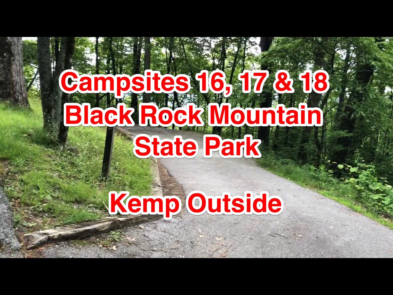 Black Rock Mountain State Park Campsites 16, 17 & 18
