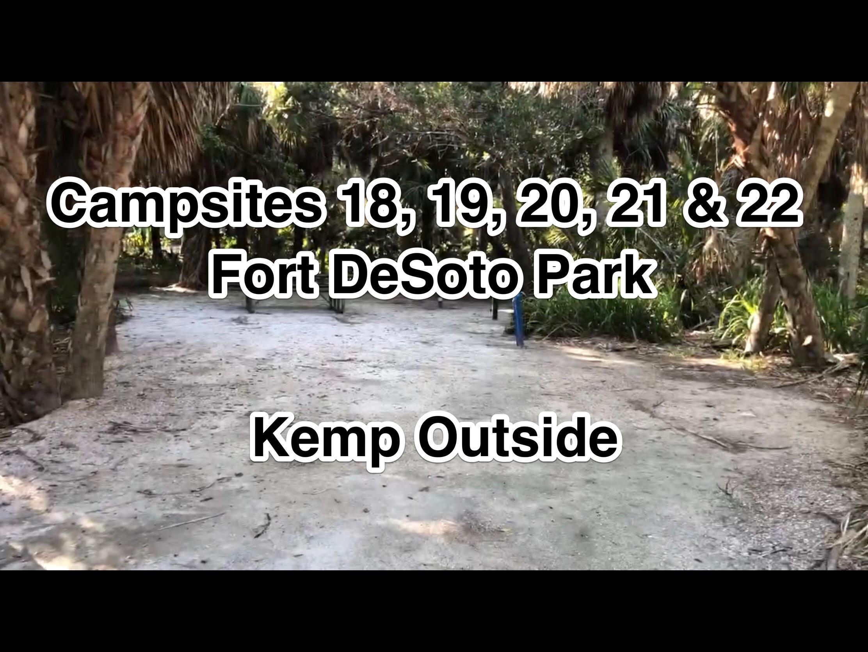 Fort De Soto Park Campsites 18, 19, 20, 21 & 22