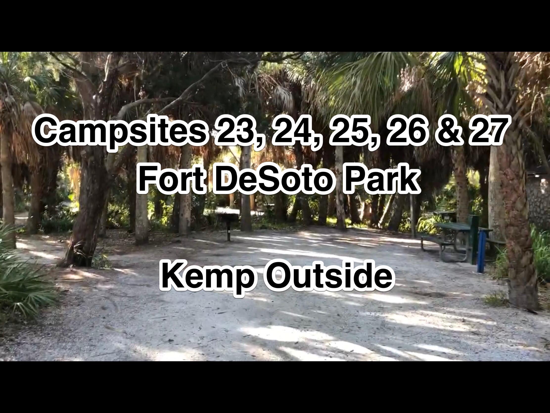 Fort De Soto Park Campsites 23, 24, 25, 26 & 27