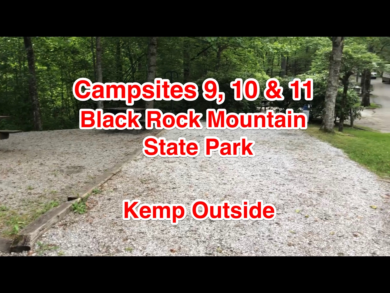 Black Rock Mountain State Park Campsites 9, 10 & 11