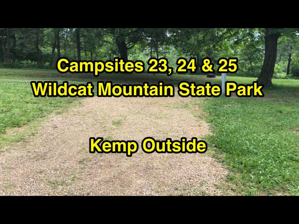 Wildcat Mountain State Park Campsites 23, 24 & 25