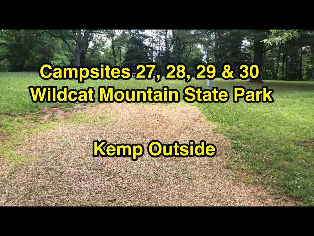 Wildcat Mountain State Park Campsites 27, 28, 29 & 30