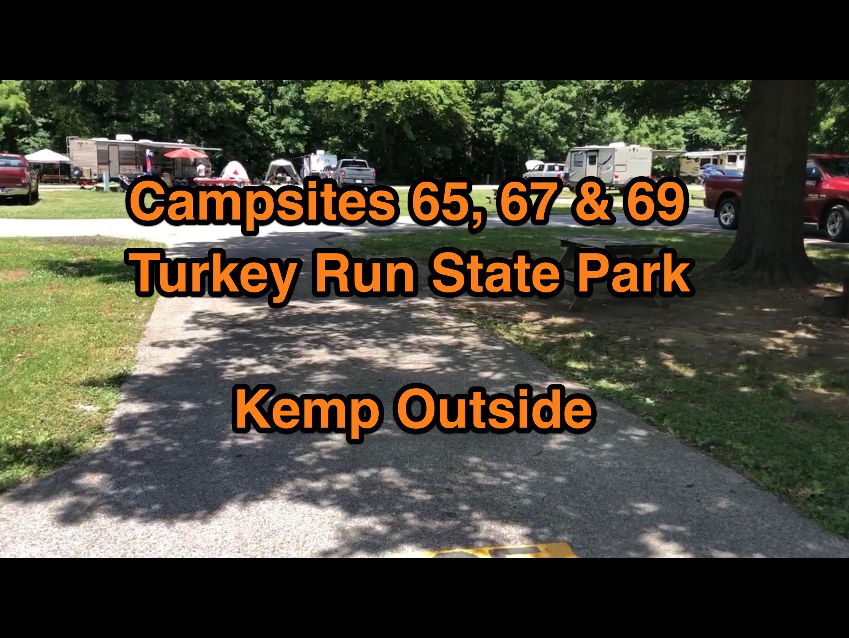 Turkey Run State Park Campsites 65, 67 & 69