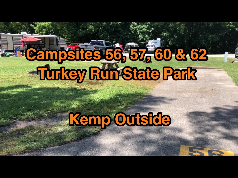 Turkey Run State Park Campsites 56, 57, 60 & 62