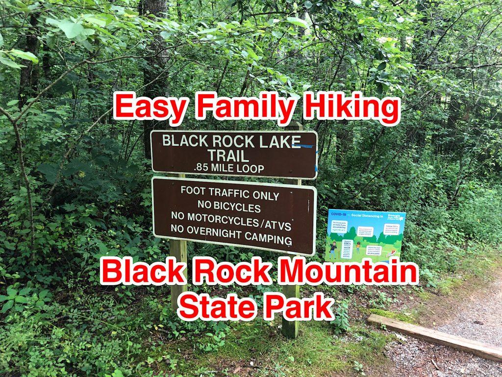 Hiking Black Rock Lake Trail at Black Rock Mountain State Park Georgia