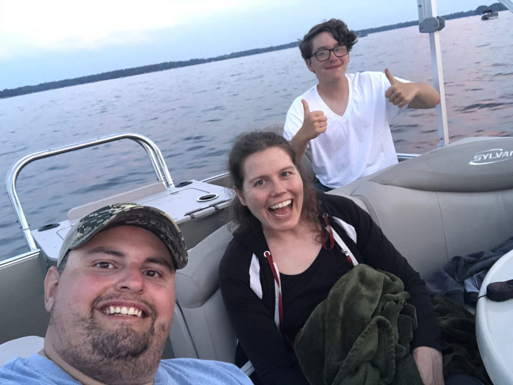 Waiting for 4th of July fireworks on Crosslake!