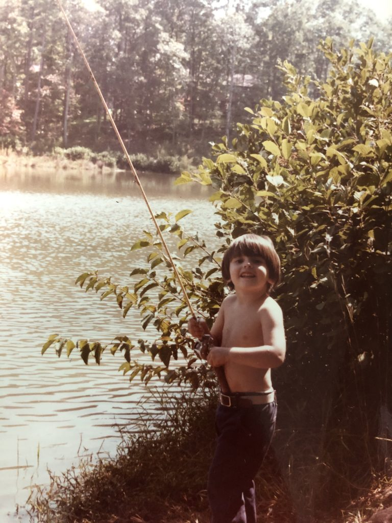 Young Kevin fishing in Georgia
