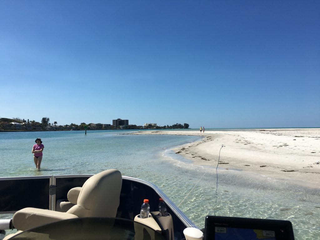 I could get used to this view! Sarasota from Pontoon-A-Fish