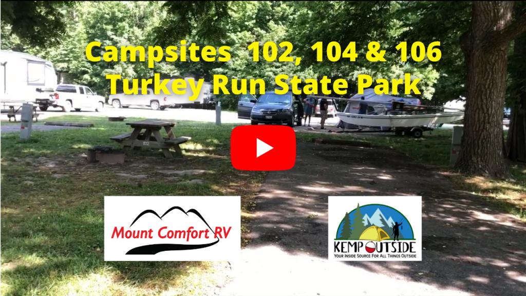 Turkey Run Campsites 102, 104 & 106