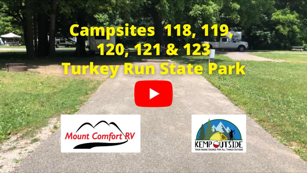 Turkey Run Campsites 118, 119, 120, 121 & 123