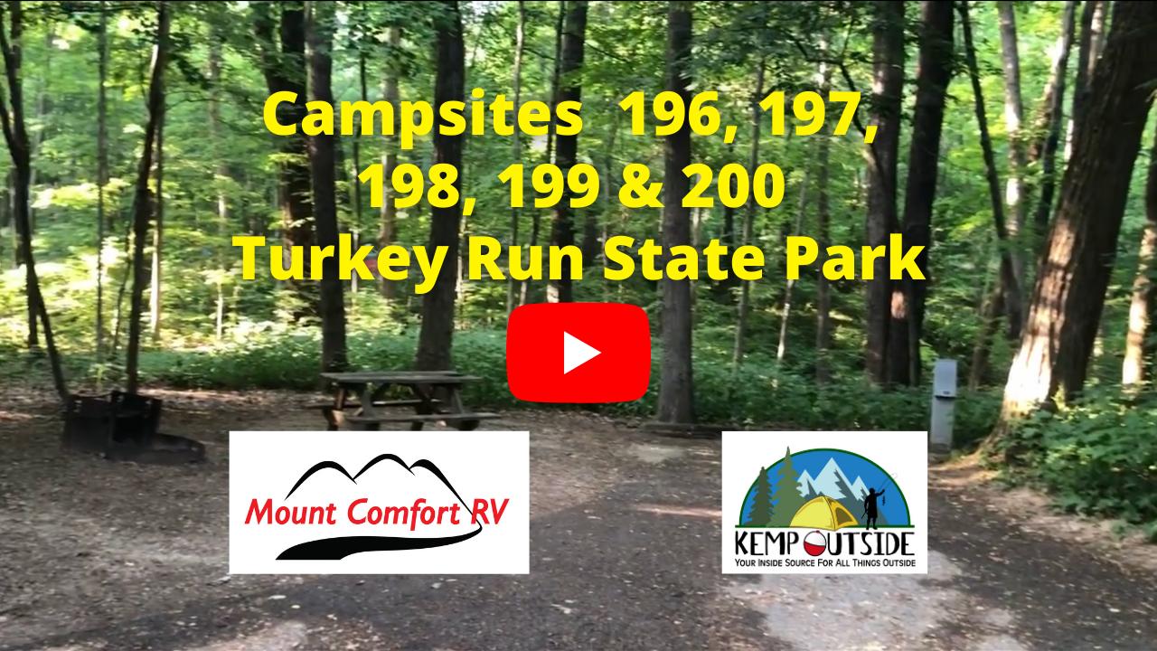 Turkey Run Campsites 196, 197, 198, 199 & 200