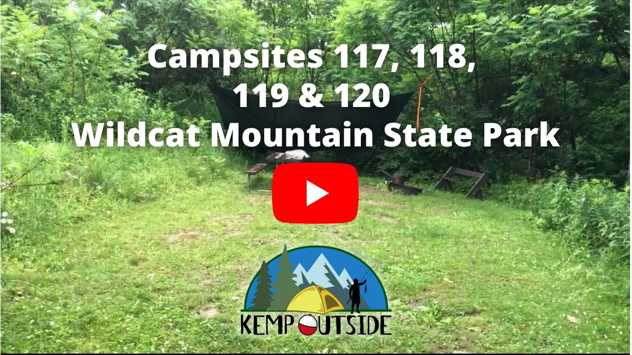 Wildcat Mountain Campsites 117, 118, 119 & 120