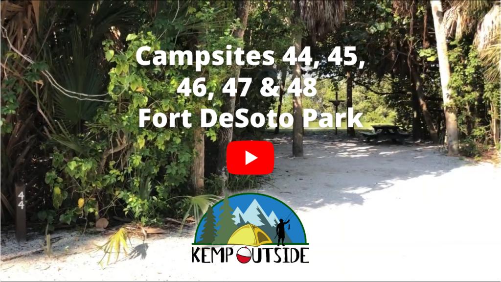 Fort De Soto Park Campsites 44, 45, 46, 47 & 48