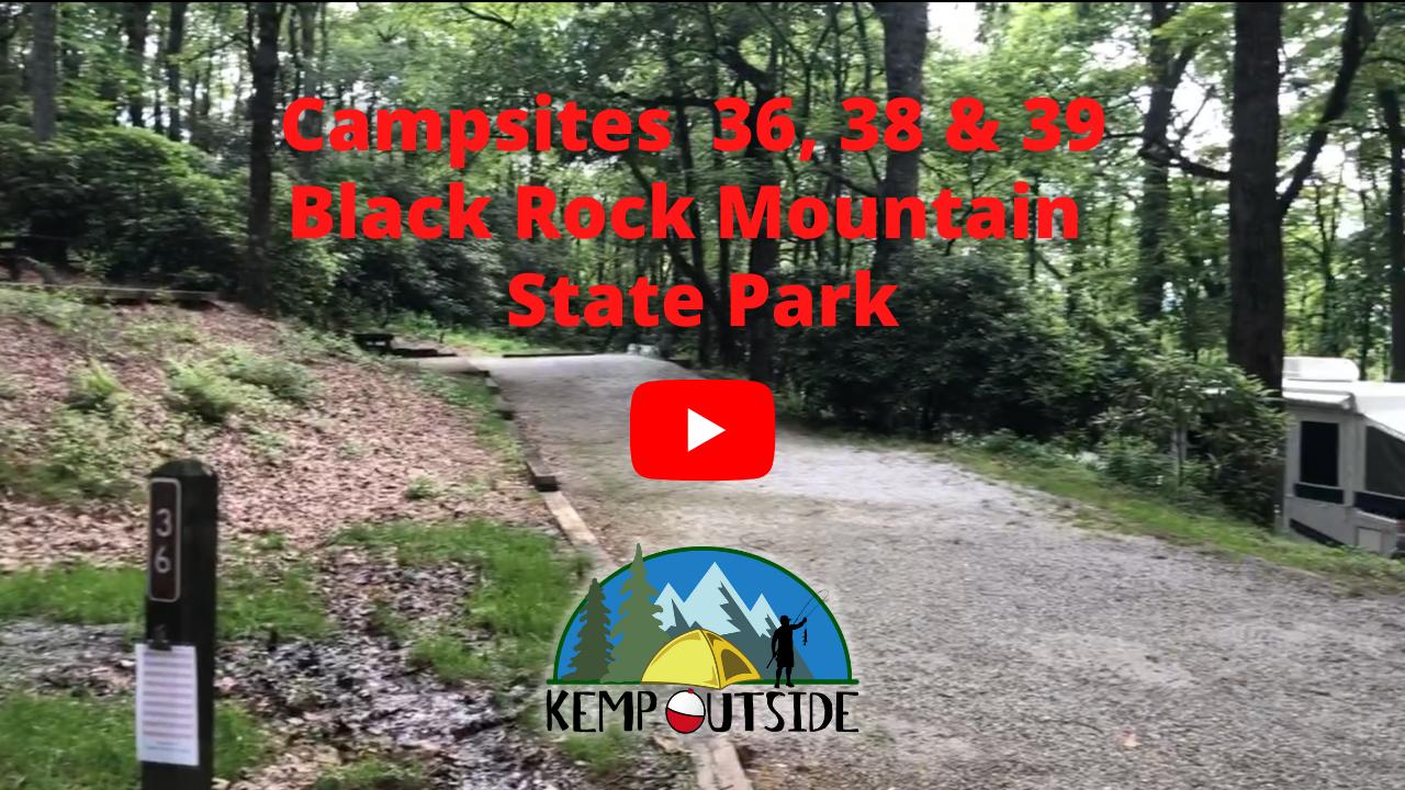 Black Rock Mountain Campsites 36, 38 & 39