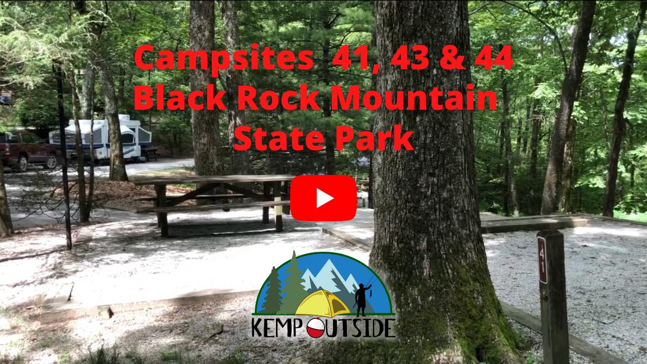 Black Rock Mountain Campsites 41, 43 & 44