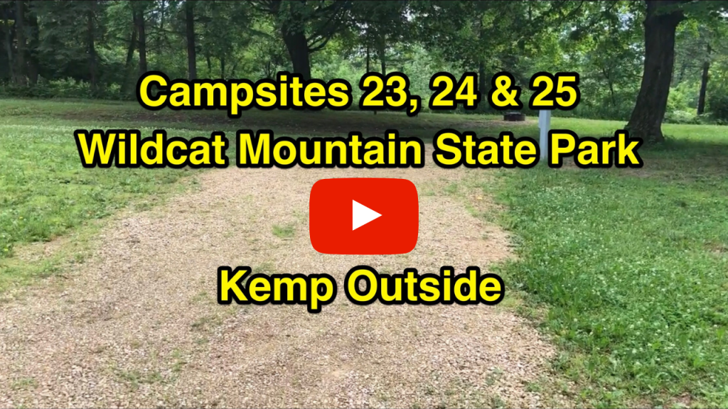 Campsites 23, 24 & 25 at Wildcat Mountain State Park