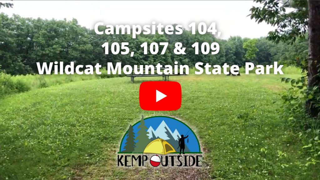 Wildcat Mountain Campsites 104, 105, 107 & 109