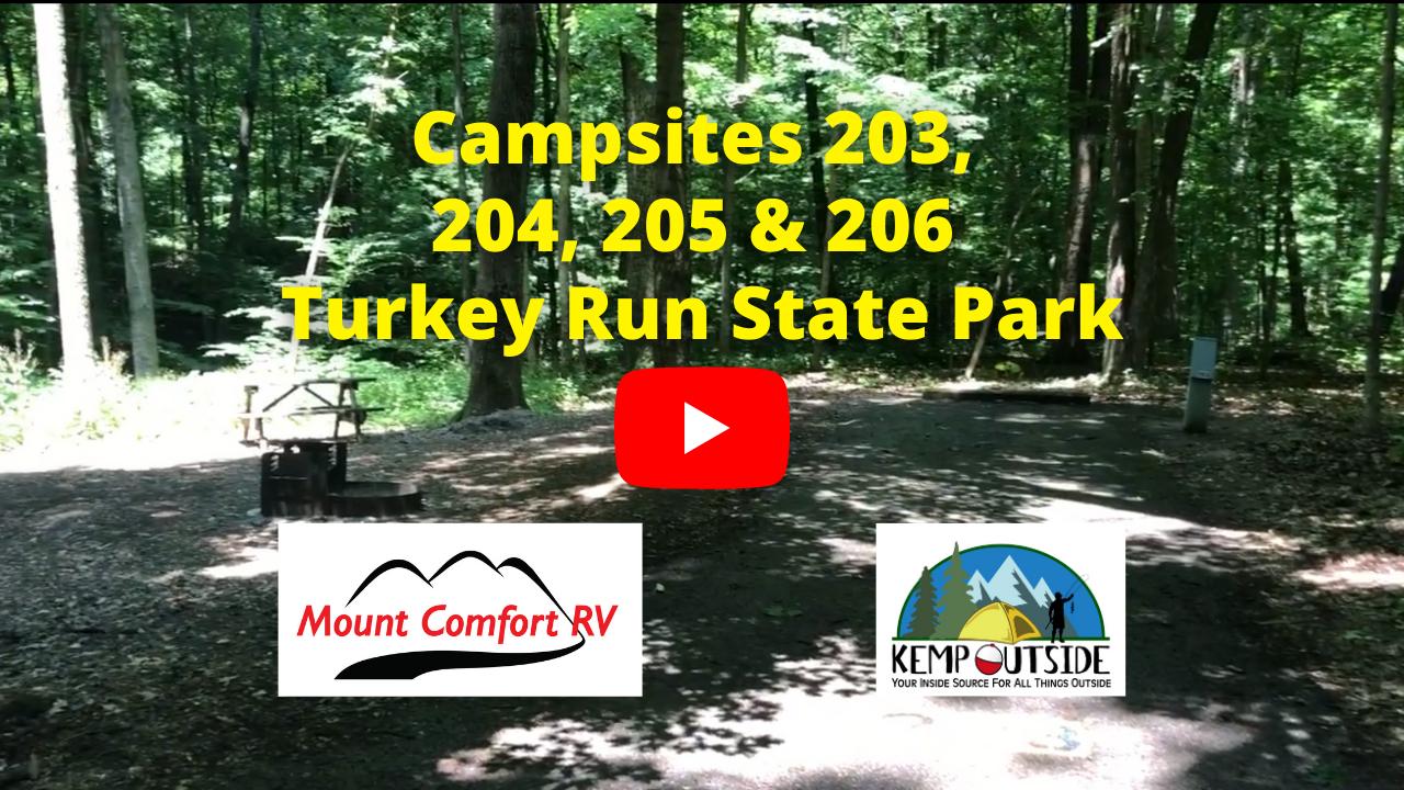Turkey Run Campsites 203, 204, 205 & 206