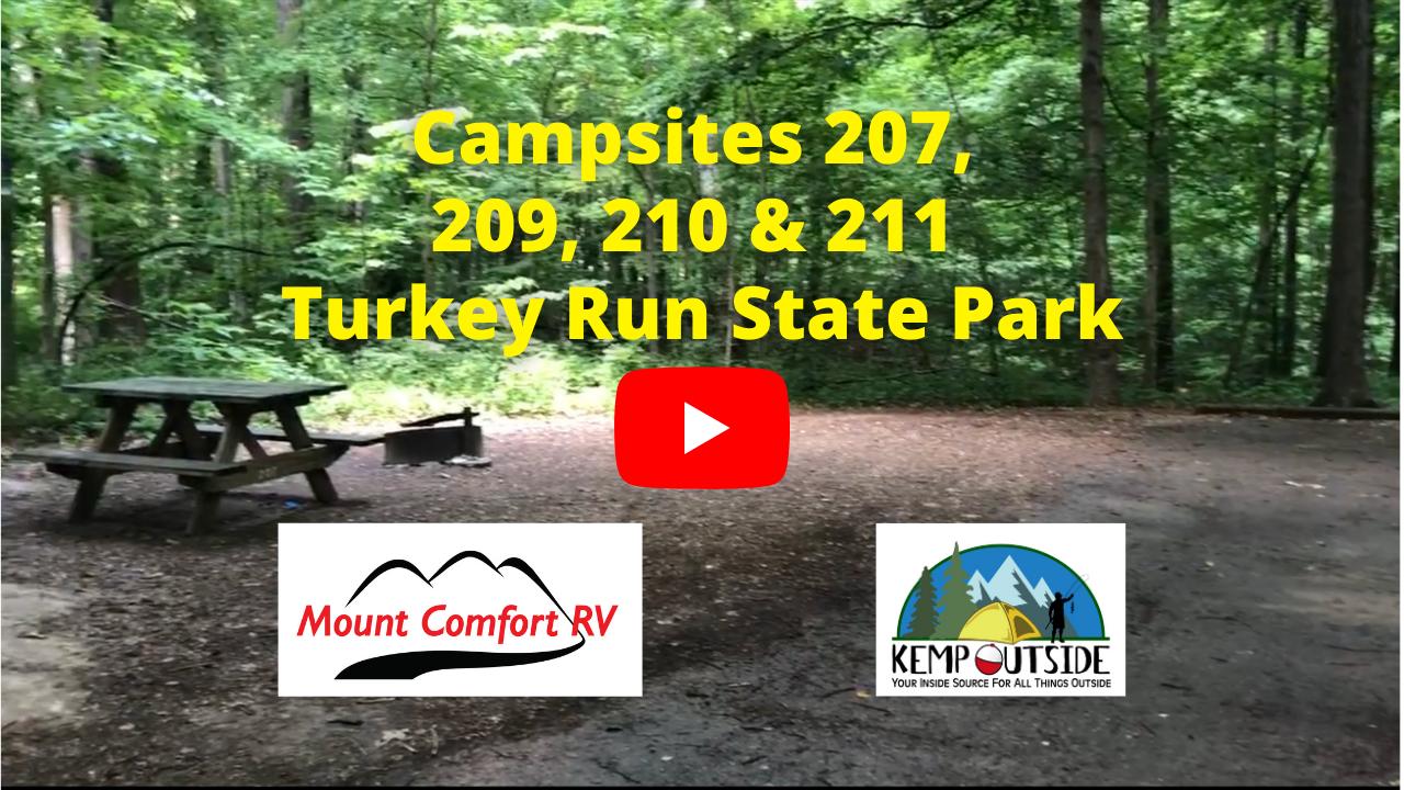Turkey Run Campsites 207, 209, 210 & 211