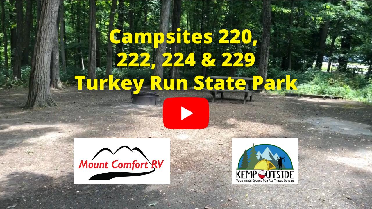 Turkey Run Campsites 220, 22, 224 & 229