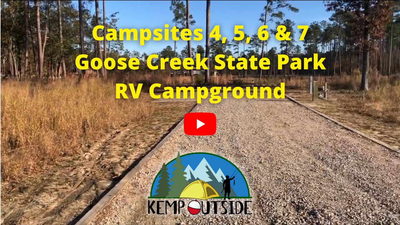 Campsites 4, 5, 6 & 7 Goose Creek State Park RV Campground