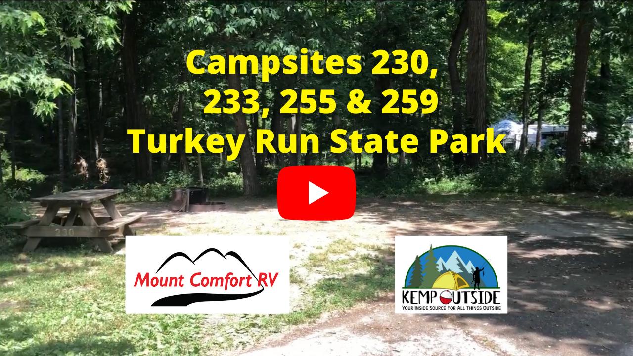 Campsites 230, 233, 255 & 259