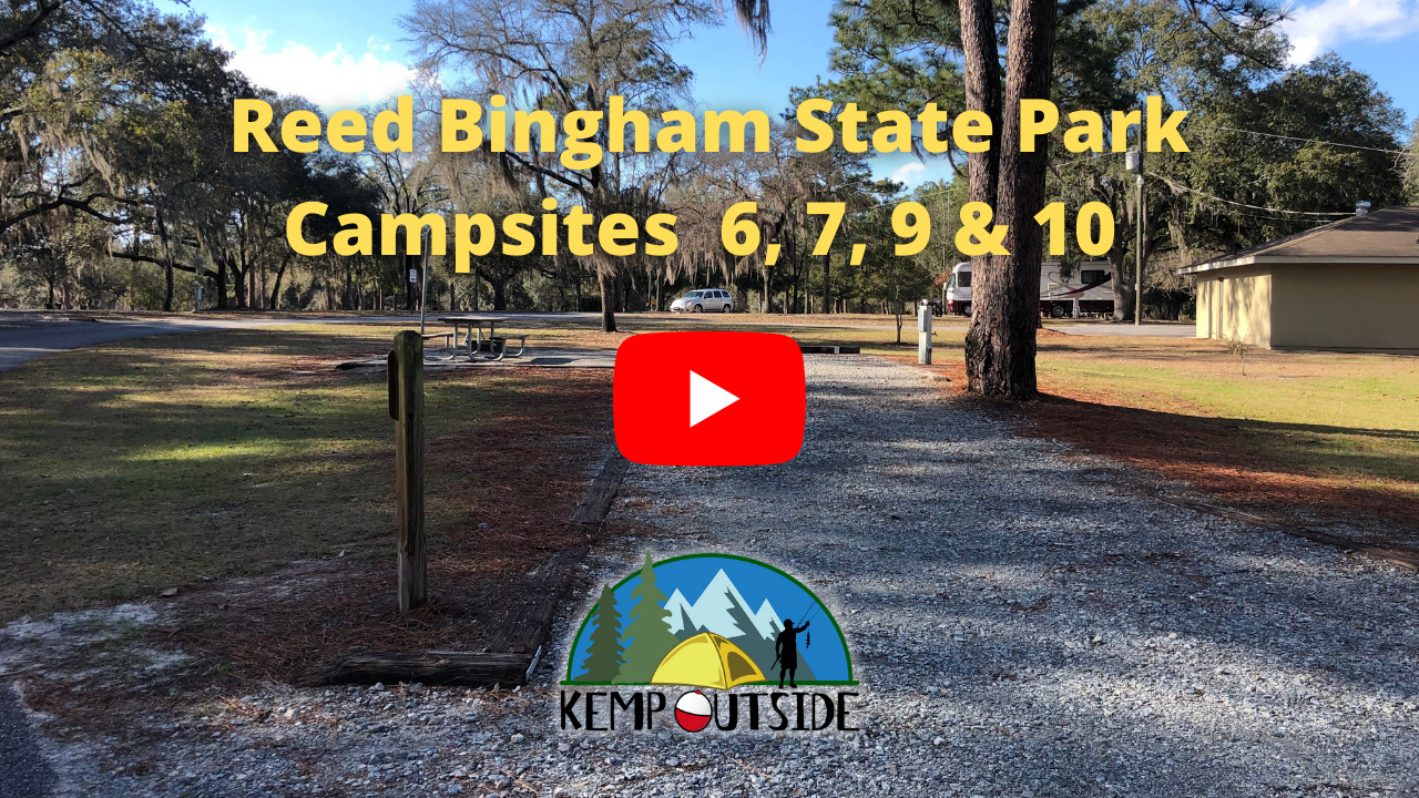 Reed Bingham State Park Campsites 6, 7, 9 & 10