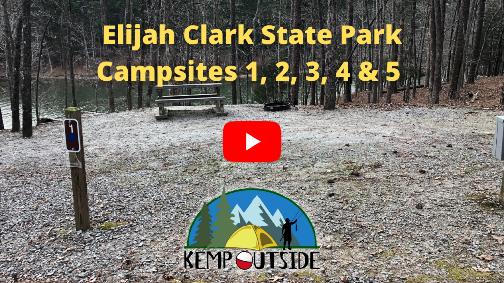 Elijah Clark State Park Campsites 1, 2, 3, 4 & 5
