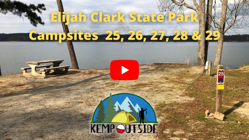 Elijah Clark State Park Campsites 25, 26, 27, 28 & 29