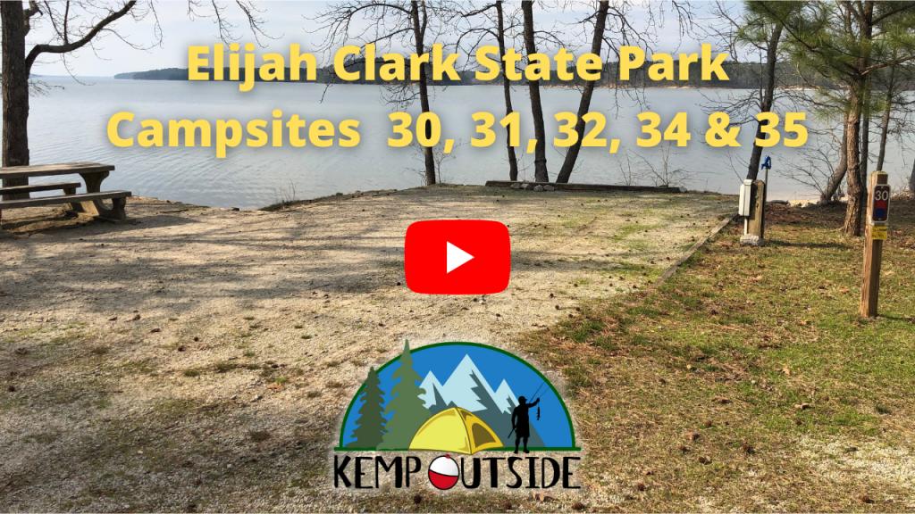Elijah Clark State Park Campsites 30, 31, 32, 34 & 35