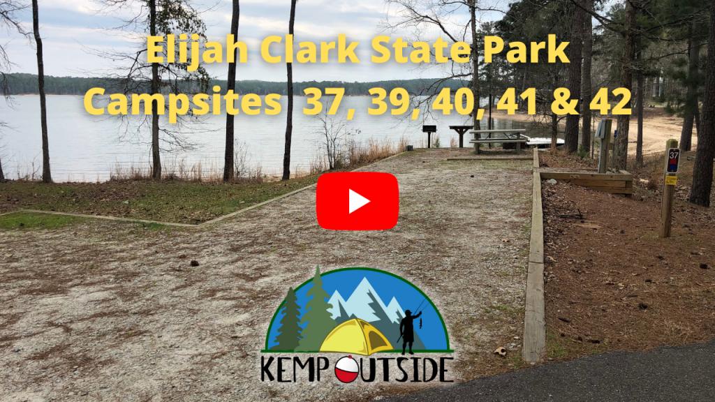 Elijah Clark State Park Campsites 37, 39, 40, 41 & 42