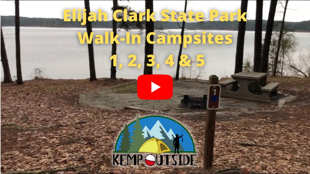 Elijah Clark State Park Walk-In Campsites 1, 2, 3, 4 & 5