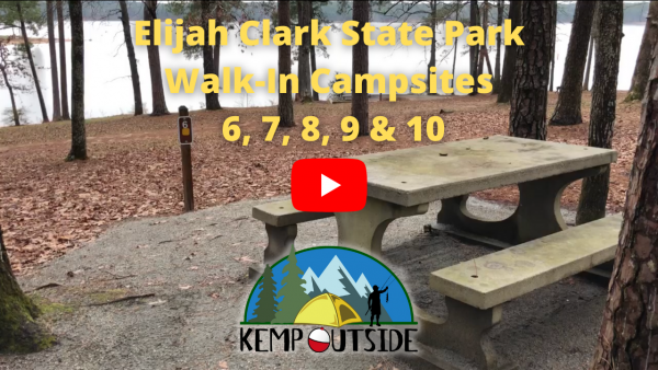 Elijah Clark State Park Walk-In Campsites 6, 7, 8, 9 & 10