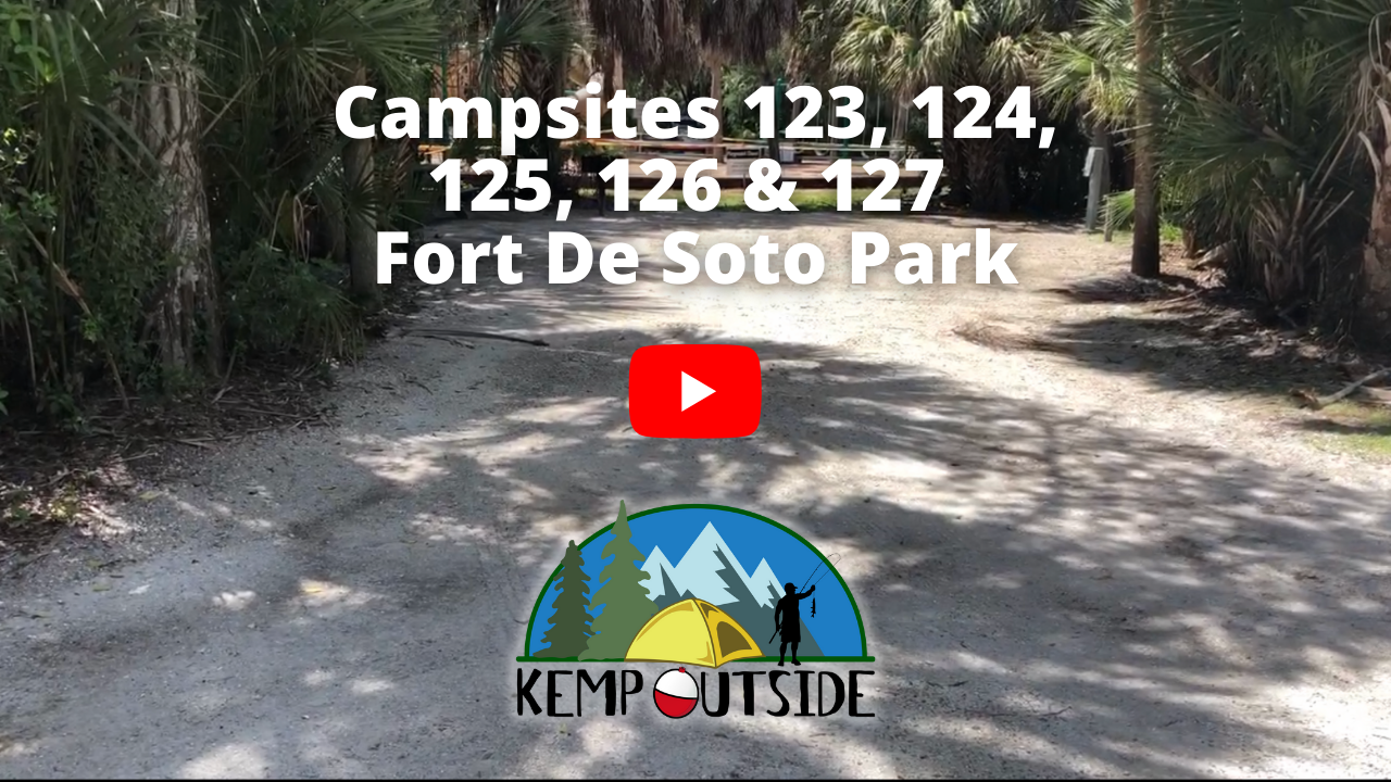 Fort De Soto Campsites 123, 124, 125, 126 & 127