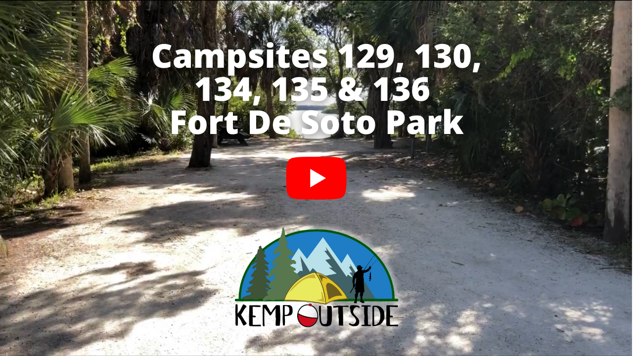 Fort De Soto Campsites 129, 130, 134, 135 & 136