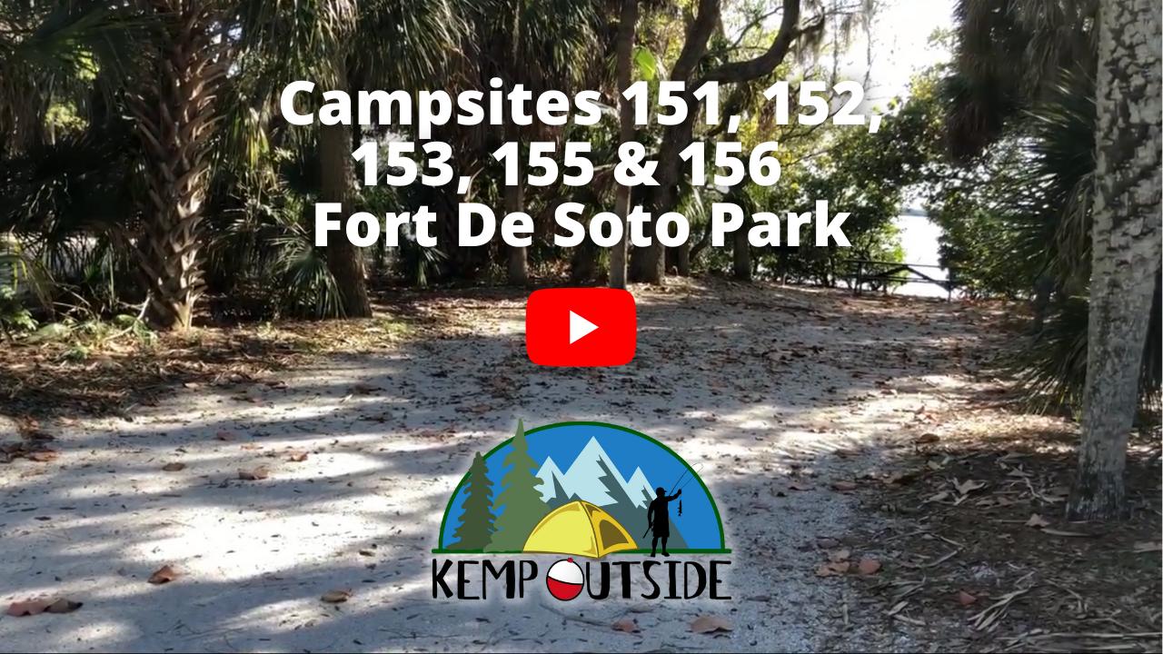 Fort De Soto Campsites 151, 152, 153, 155 & 156
