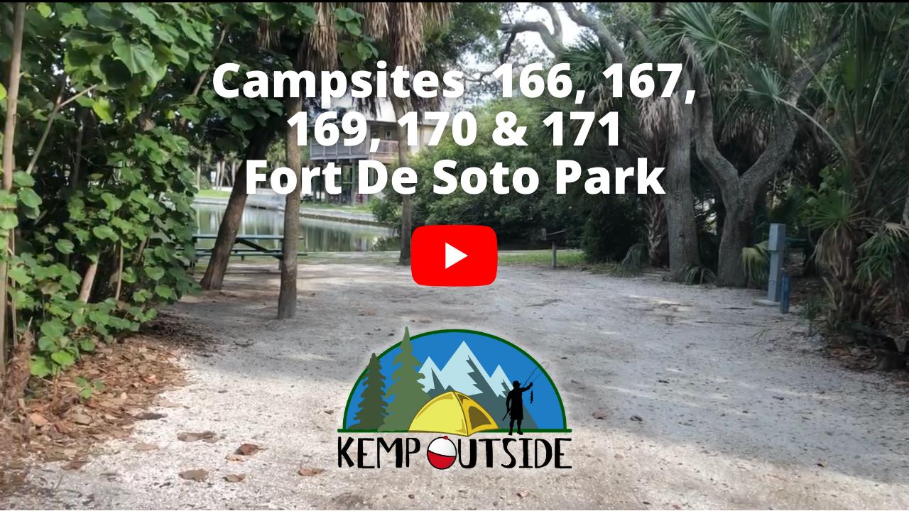 Fort De Soto Campsites 166, 167, 169, 170 & 171