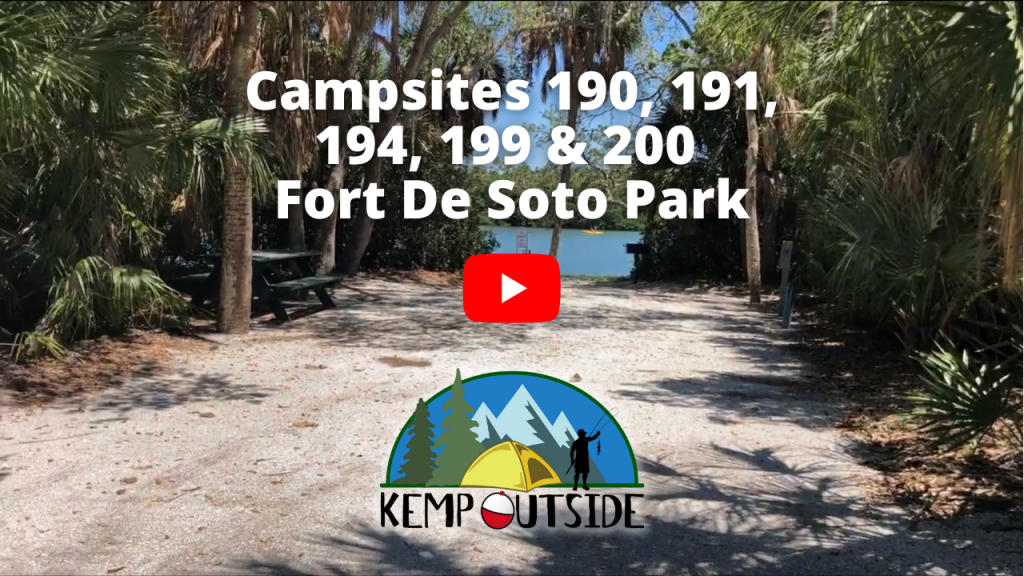 Fort De Soto Campsites 190, 191, 194, 199 & 200