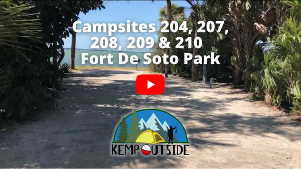 Fort De Soto Campsites 204, 207, 208, 209 & 210