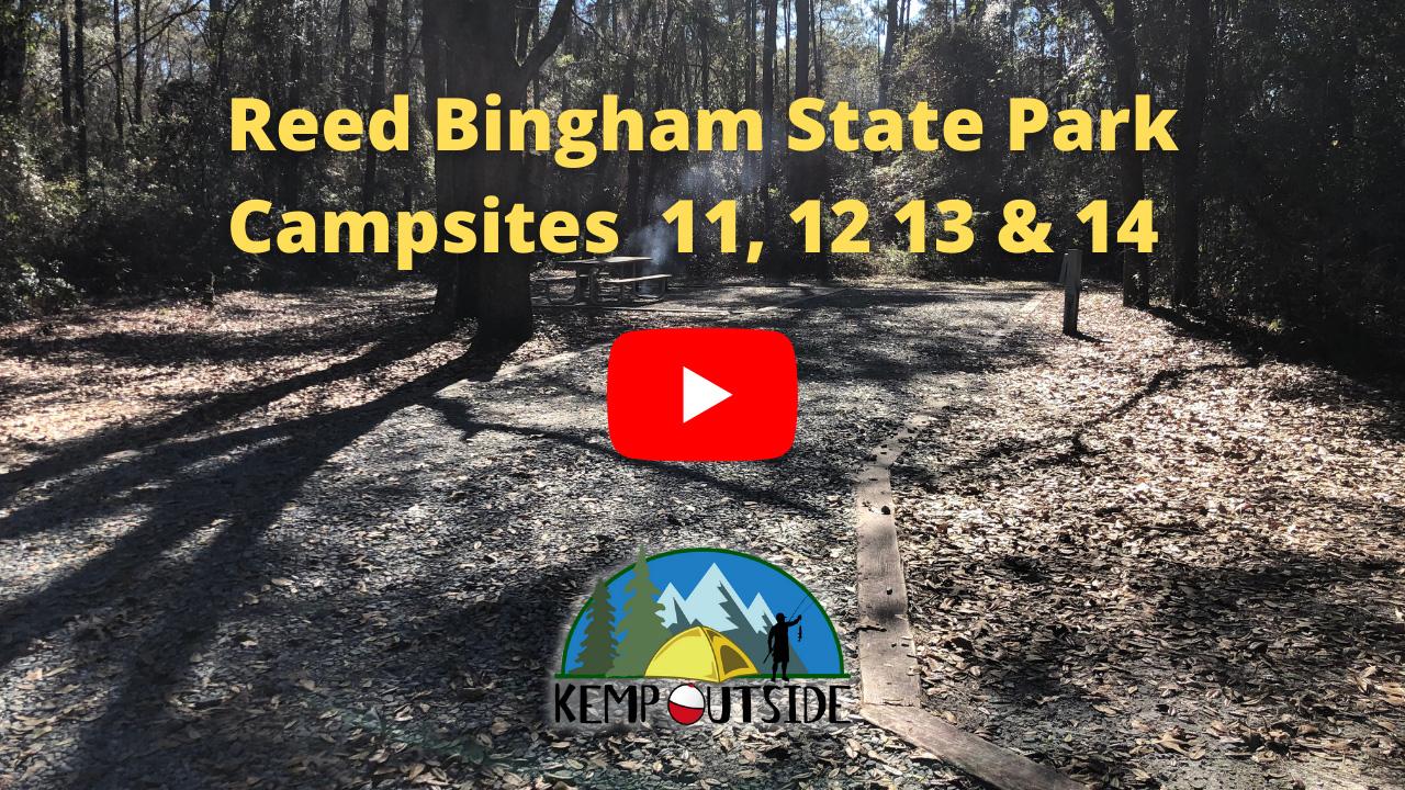 Reed Bingham State Park Campsites 11, 12, 13 & 14