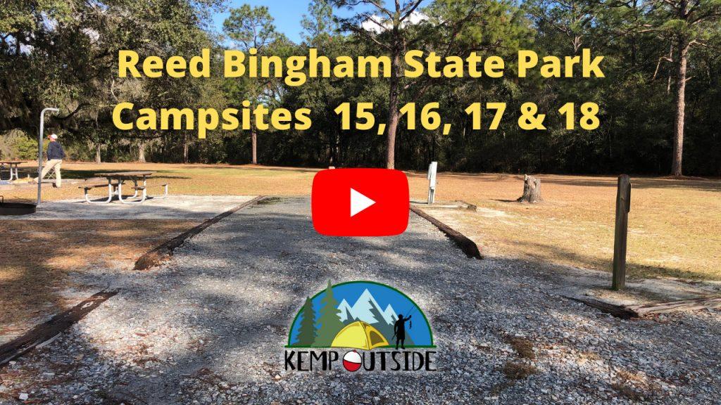 Reed Bingham State Park Campsites 15, 16, 17 & 18